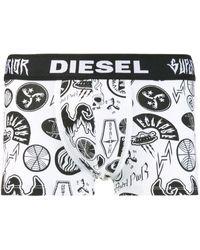 DIESEL Shorts mit Print - Weiß