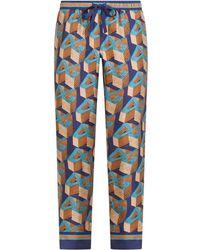 Dolce & Gabbana ロゴ パジャマパンツ - ブルー