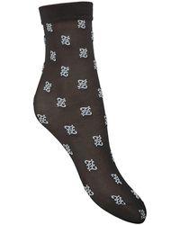 Fendi Ff Karligraphy 靴下 - ブラック