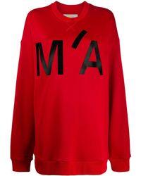 Marques'Almeida - Oversized-Sweatshirt mit Logo - Lyst