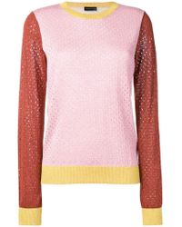 Stine Goya - Perforated Colour-block Jumper - Lyst
