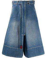 Lanvin Falda vaquera con cintura lazada - Azul