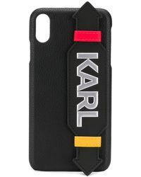 Karl Lagerfeld Чехол Для Iphone Xs Max С Логотипом - Черный
