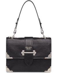 763e6780573fad Prada - Cahier Printed Leather Handbag - Lyst