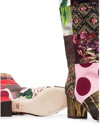 Dolce & Gabbana パッチワーク ロングブーツ - マルチカラー
