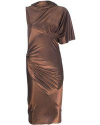 Rick Owens Lilies メタリック ドレス - ブラウン
