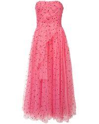 447ca92dd36 Carolina Herrera - Hear Print Tulle Dress - Lyst