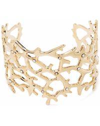 Gentry Portofino Studded Cut-out Cuff Bracelet - Metallic