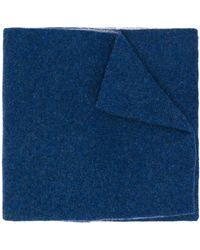 Dell'Oglio カシミア バイカラー スカーフ - ブルー
