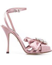 Dolce & Gabbana - オープントゥ サンダル - Lyst