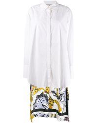 Stella McCartney Hemd mit Pferde-Print - Weiß