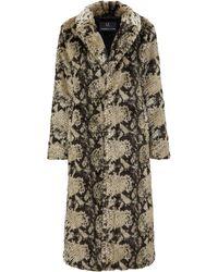 Unreal Fur Manteau texturé à effet peau de serpent - Multicolore