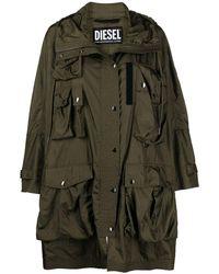 DIESEL Hooded Parka Jacket - Green