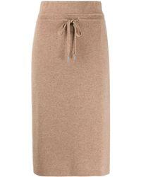 Max & Moi Drawstring Knit Skirt - Brown