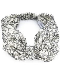 Maison Michel - 'valery' Bow Headband - Lyst