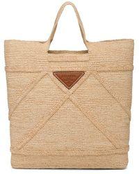 Prada Raffia Handbag - Natural