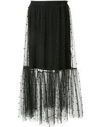 Macgraw ビーズ スカート - ブラック
