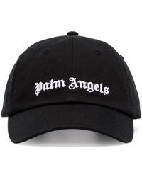 d576e71d051 Palm Angels - Logo Cotton Blend Baseball Cap - Lyst