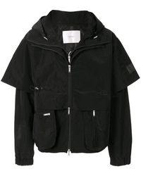 HELIOT EMIL Layered-sleeve Hooded Jacket - Black