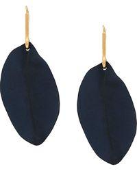 Marni Ohrringe im Blattdesign - Blau