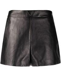 Valentino Leather Shorts - Black