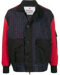 Vivienne Westwood コントラストスリーブ ジャケット - ブラック