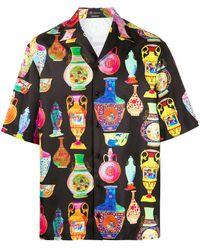 Versace T-Shirt mit Print - Schwarz