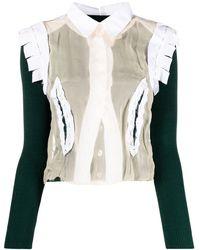 Maison Margiela Деконструированный Джемпер-рубашка - Зеленый