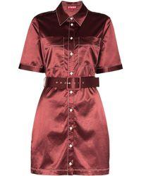 STAUD Bentley シャツドレス - レッド