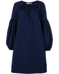 CALVIN KLEIN 205W39NYC Bell-sleeved Dress - Blue