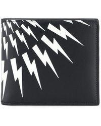 Neil Barrett Thunderbolt 財布 - ブラック