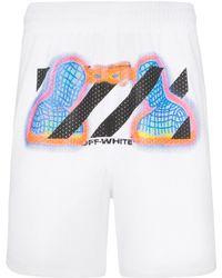 Off-White c/o Virgil Abloh Thermal Print Mesh Shorts - White