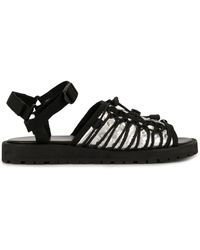 Kolor Lace-up Detail Sandals - Black