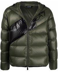 EA7 バイカラー パデッドジャケット - グリーン