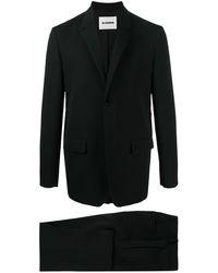 Jil Sander Einreihiger Anzug - Schwarz