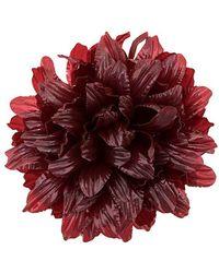 Molly Goddard Flower Brooch - Red