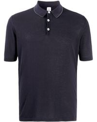 Eleventy Slim-fit Polo Shirt - Blue