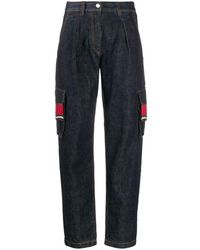 Alanui Beaded Tapered Jeans - Blue
