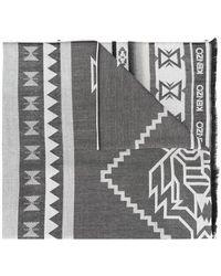 KENZO - Aztec Print Scarf - Lyst