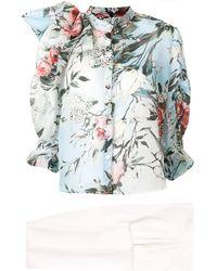 Saiid Kobeisy Floral Print Bow-detail Blouse - White