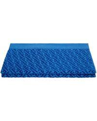 Fendi Serviette de plage à logo - Bleu