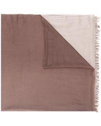 N.Peal Cashmere Tie-dye Scarf - Brown