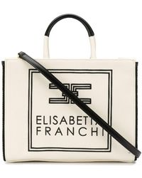 Elisabetta Franchi ロゴ ハンドバッグ - マルチカラー