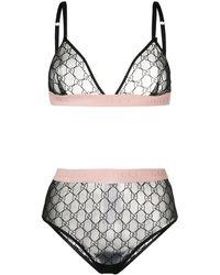 Gucci GG Pattern Lingerie Set - Многоцветный