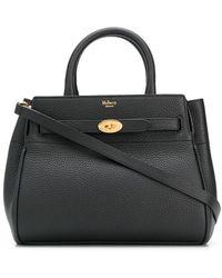 Mulberry Bayswater Logo Tote Bag - Black
