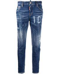 DSquared² Jeans mit Logo-Print - Blau