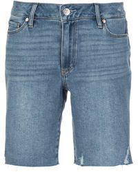 PAIGE Jax Cut-off Shorts - Blue
