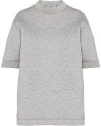 Prada ダブルジャージー Tシャツ - グレー