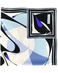 Emilio Pucci Abstract Print Scarf - Blue