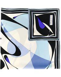 Emilio Pucci Pañuelo con estampado abstracto - Azul